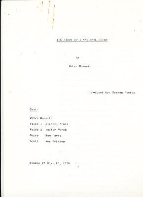 radio script cover